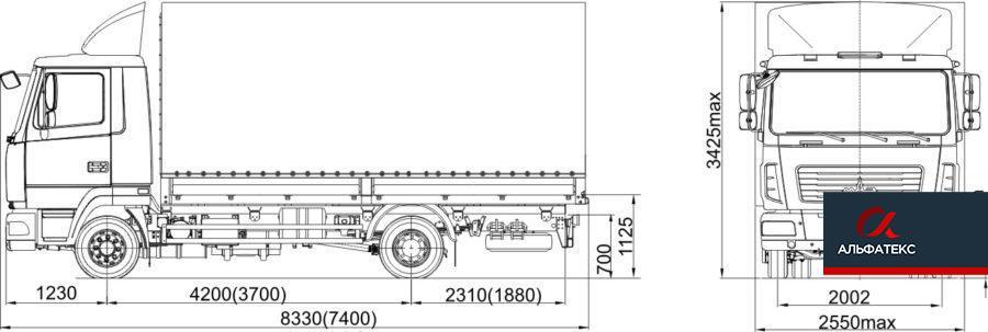 МАЗ-4371N2-521-030 (-522-030)