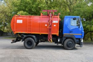 Мусоровоз с боковой загрузкой АТ-2132 на шасси МАЗ-4381N2