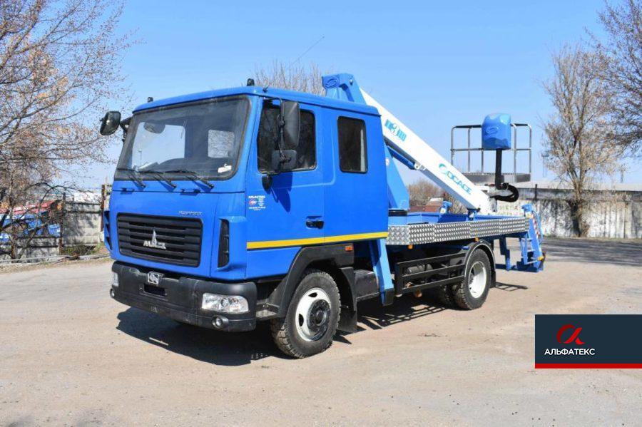 Автогидроподъемник Socage T318 на шасси МАЗ-4371N2 (с двухрядной кабиной)