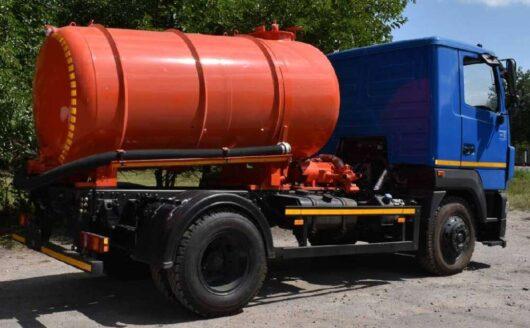 Вакуумная машина  АТ  ВО-0102 на шасси МАЗ-4381N2