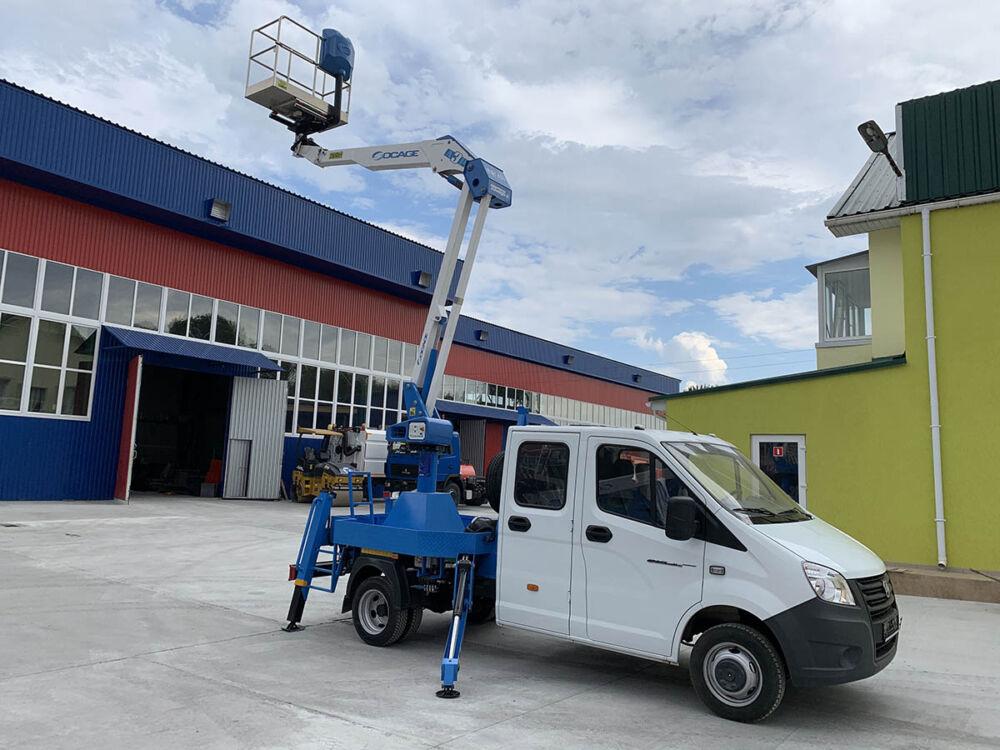 Автовышкой марки АТ-14/31 пополнился автопарк Мариупольского коммунального предприятия