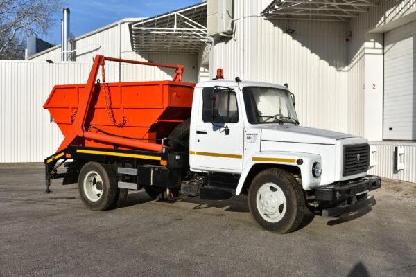 Портальный мусоровоз АТ-1014 на шасси ГАЗ-33098